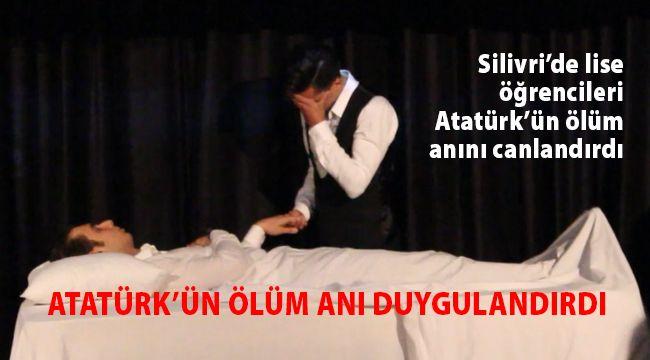 Atatürk'ün 'ölüm anı' ağlattı