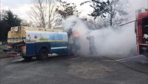 Silivri'de tanker yangın