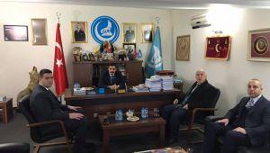 Genel Başkan Ateş, İl Başkanı Aktunç'u ziyaret etti