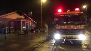 Silivri'de balık restoranı yandı