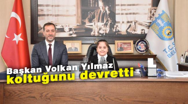 Başkan Volkan Yılmaz koltuğunu devretti