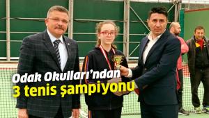 Odak Okulları'ndan 3 tenis şampiyonu