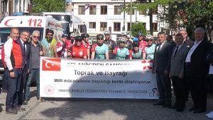Ata toprağı ve Türk bayrağı Silivri'den yola çıktı