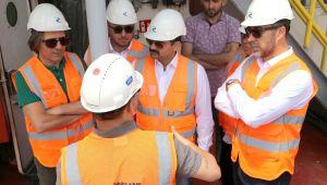 Başkan Yılmaz doğalgaz depolama tesisini inceledi