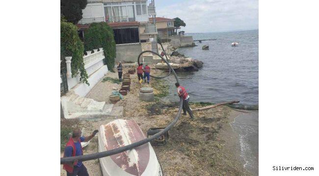 Denizi kirleten atık suya müdahale edildi