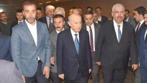 Dernek başkanları Devlet Bahçeli'nin misafiri oldu