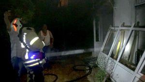 Silivri'de bir evin bodrumu yandı