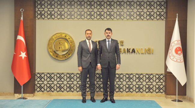 Başkan Yılmaz projelerini Ankara'ya taşıdı
