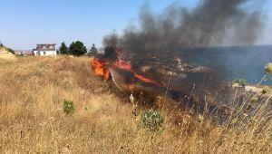 Ot yangını güçlükle kontrol altına alındı
