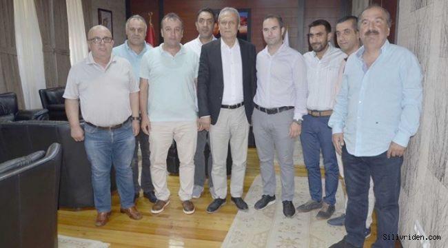 Silivrispor yönetimi Kaymakam Partal'ı ziyaret etti