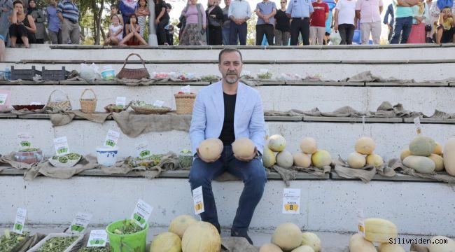 Silivri'de kavun ve bamya lezzetleri yarıştı