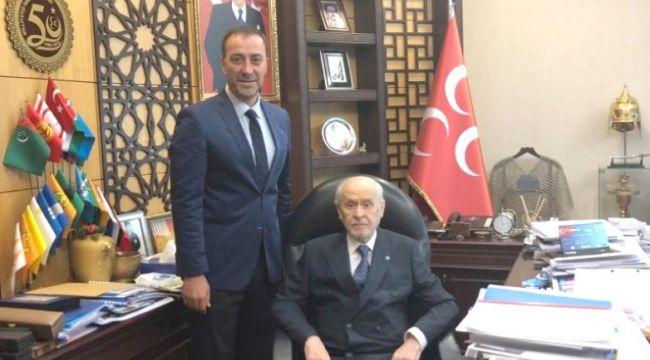 Başkan Yılmaz, Lider Devlet Bahçeli'yi ziyaret etti
