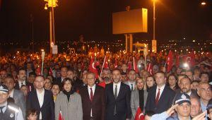 Cumhuriyet Yürüyüşüne binlerce Silivrili katıldı
