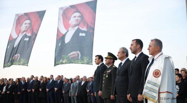 Büyük Önder Atatürk saygı ve minnetle anıldı