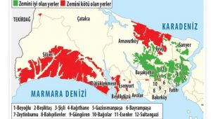 Deprem haritasında Silivri