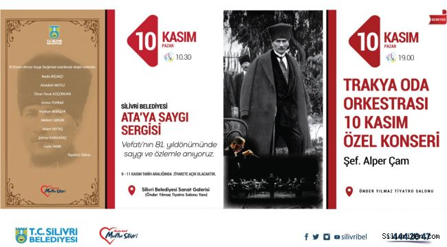 Silivri Beledeyisi'nden 10 Kasım özel programı