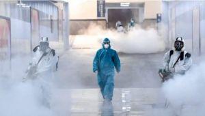 Çin'de sokaklar ilaçlanıyor