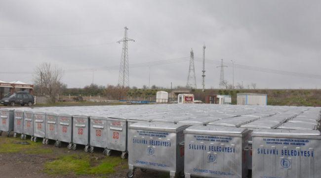 Silivri Belediyesine 300 adet çöp konteyneri