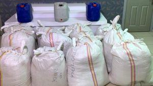 Silivri'de 2 bin 700 kilogram kaçak tütün ele geçirildi