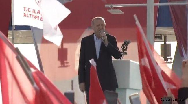 Cumhurbaşkanı Erdoğan Silivri'de konuştu
