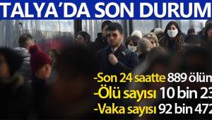 İtalya'da son 24 saatte 889 ölüm