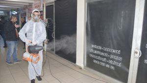 Silivri Belediyesi virüse karşı dezenfektasyona başladı