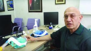 Dayanışma Platformu gönüllüsü Dr. Aydın, koruyu maske tasarladı