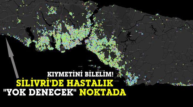 İstanbul'da en az vaka Silivri'de... Hatta yok denecek kadar az!