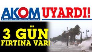 İstanbul için fırtına uyarısı var!