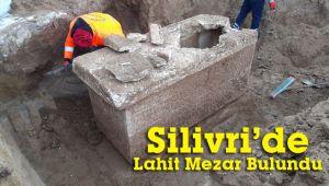 Silivri'de Roma dönemine ait lahit mezar bulundu