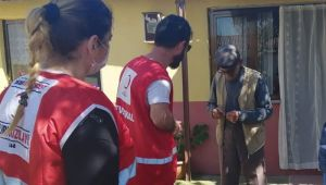 Kızılay mahalle ve köylerde yardımlarını sürdürüyor