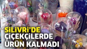 Silivri'de çiçekçilerde ürün kalmadı