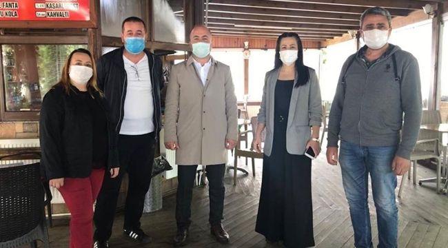 MHP'den esnafa 'hayırlı olsun' ziyareti