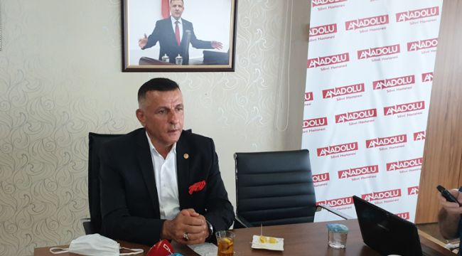 MHP'li Arkaz, basın mensuplarının sorularını yanıtladı