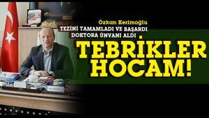 Özkan Kerimoğlu, doktora unvanı aldı