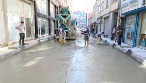 Yavuz sokak'ta çalışmalar devam ediyor