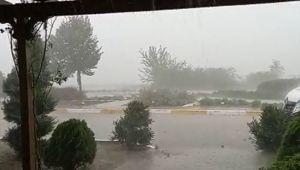 Gümüşyaka'da şiddetli yağış