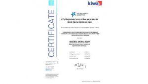 Küçükçekmece Belediyesi'ne ISO 27701 sertifikası