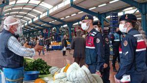 Jandarma ekipleri Silivri'de pazar denetimi yaptı