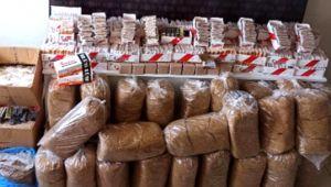 Silivri'de kaçak tütün operasyonu