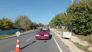Silivri'de karşıdan karşıya geçmeye çalışan öğrenciye araba çarptı
