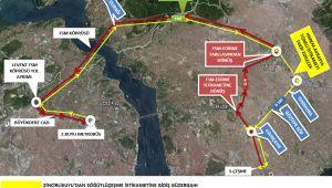 Trafiğe ulaşıma İstanbul maratonu düzenlemesi