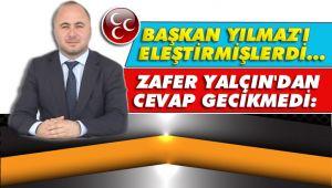 Zafer Yalçın'dan CHP'ye üst perdeden cevap geldi