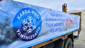 Beylikdüzü belediyesi 270 personel ve 90 araçla kışa hazır
