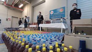 İstanbul'da bin 635 litre sahte içki yakalandı