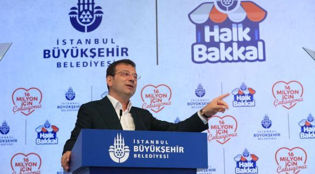 """İmamoğlu'ndan bakkalara ve İstanbullulara çağrı: """"gelin hep birlikte iyiliği organize edelim"""""""