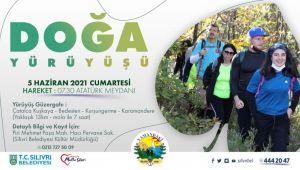Silivri Belediyesinden doğa yürüyüşü etkinliği