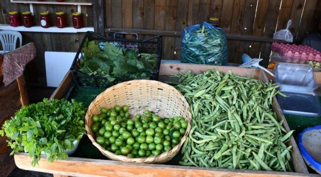Yazlık ürünler Silivri köy Pazarı'nda yerini aldı