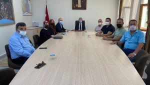 MHP'den Kaymakam Partal'a ziyaret