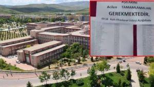 Selçuk Üniversitesi'nde aşısız ve eksik aşılı öğrencilerin isimlerini panoya astılar
